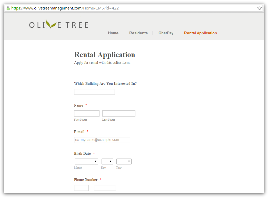 Have You Replaced The Form Code With An SSL Version On Your Secure Rental Application Page Issue Appears To Be Fixed