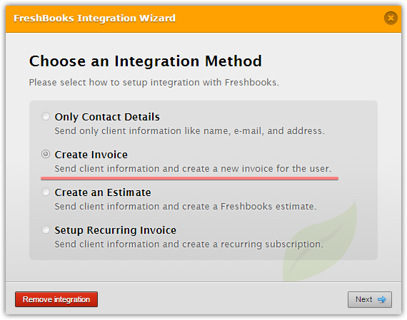 FreshBooks Integration Does Not Work Properly On Stripe Form JotForm - Send invoice using stripe