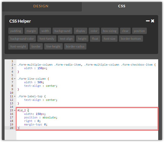 Styling: Align form Submit Button with Back Button | JotForm