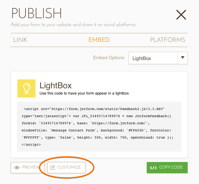 How to auto-load LighBox based form