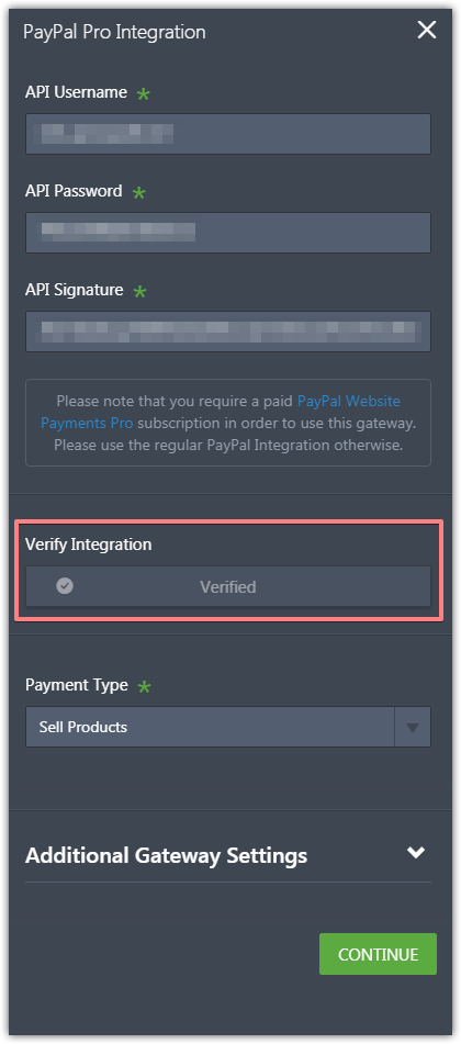 I am trying to verify Paypal Pro and it is not working