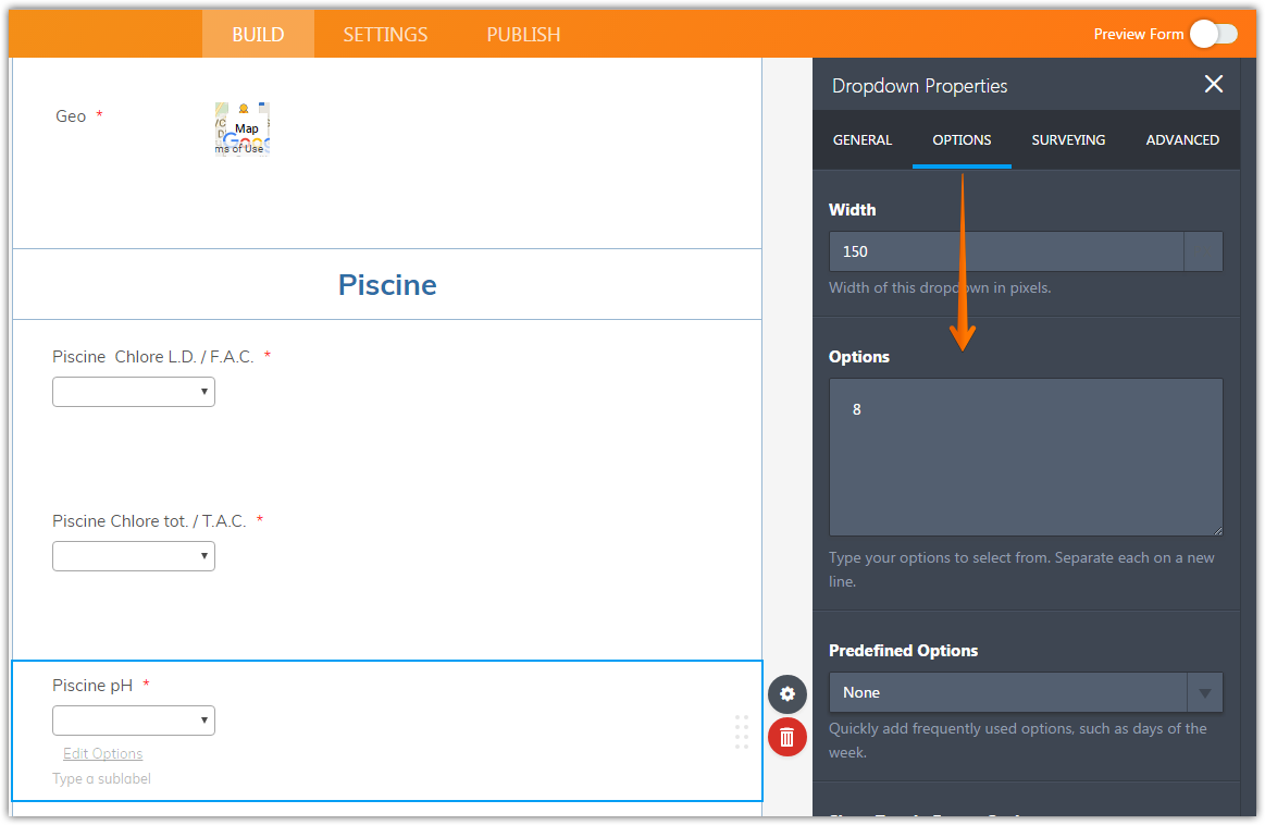 Dropdown options disappear when theres a less than sign jotform it seems that there is currently only one option added under the piscine ph dropdown field biocorpaavc Images