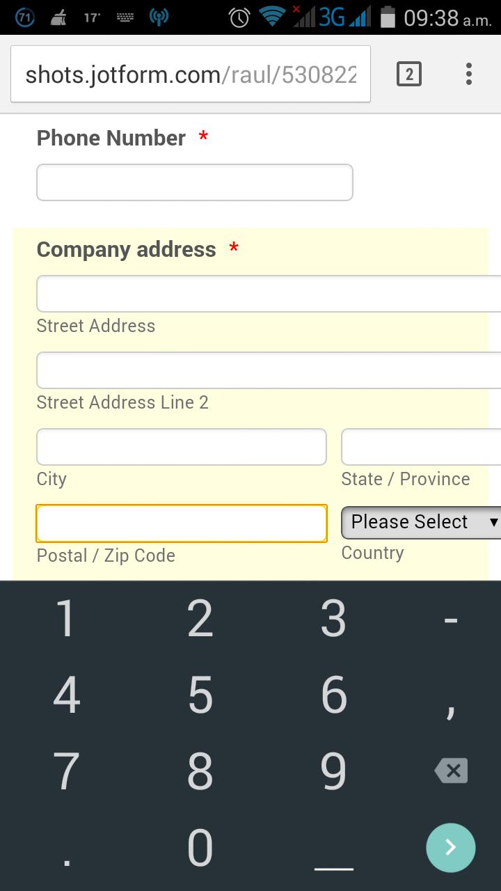 Open Numeric Keypad In Mobile Devices When Zip Code Is Active In - Us zip code alphanumeric