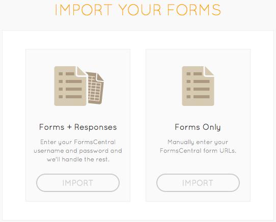 JotForm FormsCentral Import Wizard