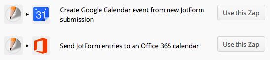 JotForm & Zapier & Calendar