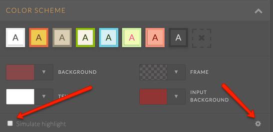 JotForm Color Scheme