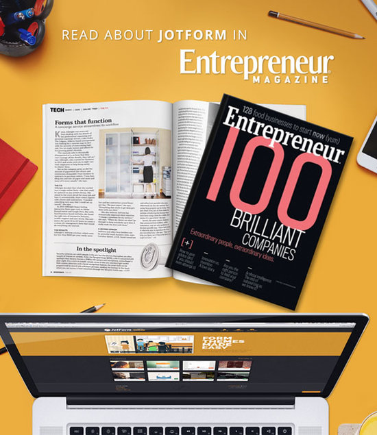 Read about JotForm in Entrepreneur