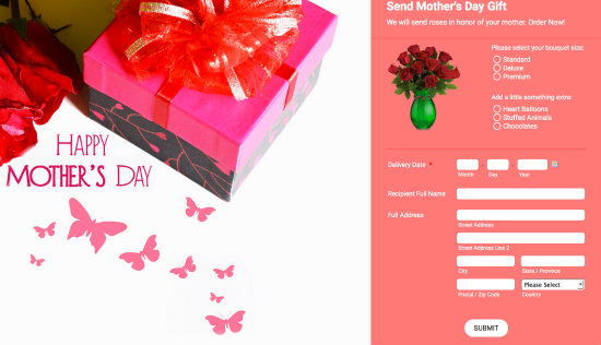 Mother's Day Gift Order Form