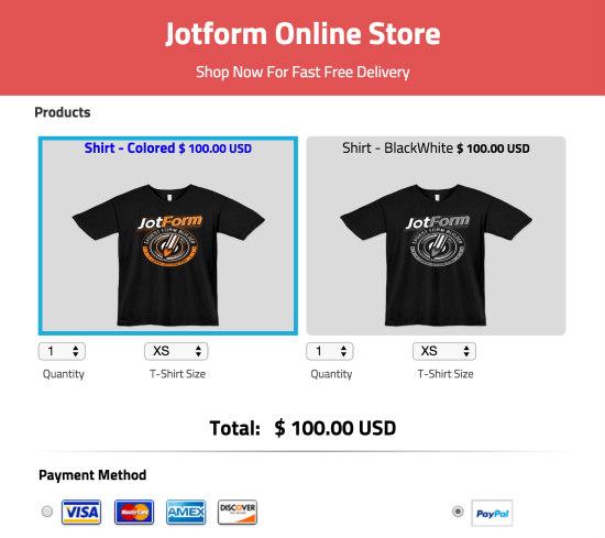 JotForm t shirt