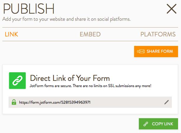 Publish Interface