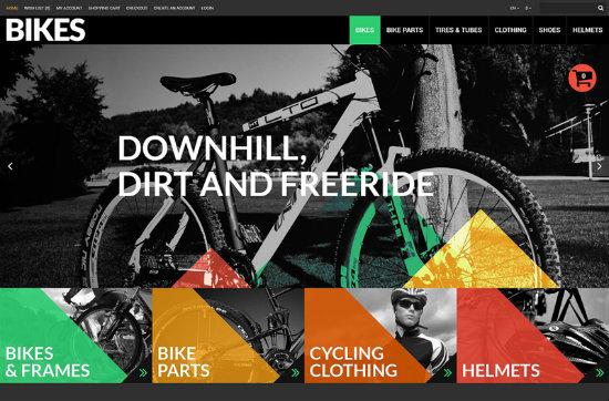 Bikes OpenCart Theme