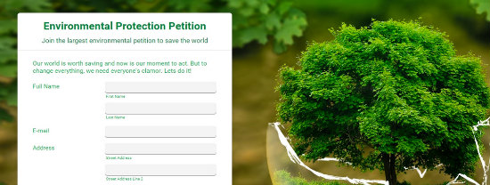 Sign a petition for earth day