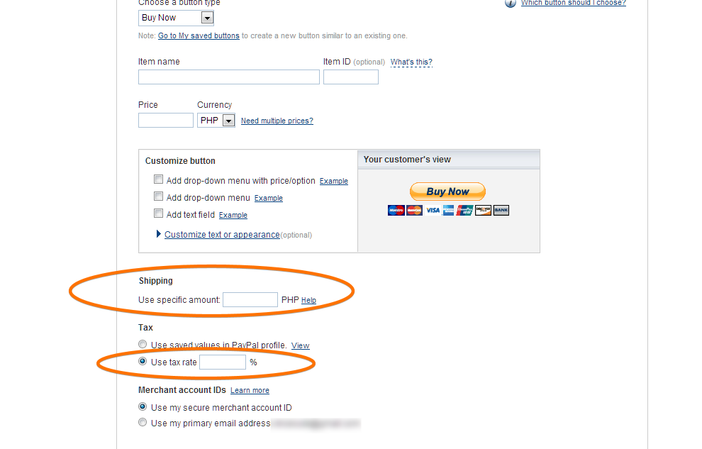 Stop Paypal Account Shipping Rates from being Added to the