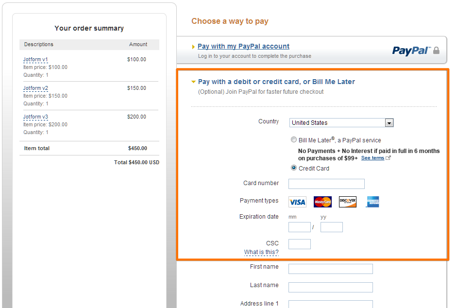 How to pay online with credit card