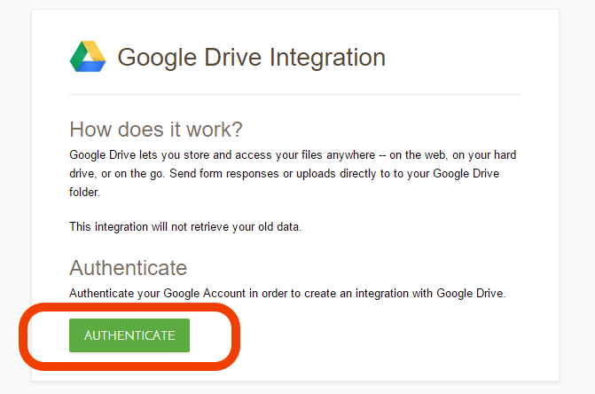 how to create a form on google drive