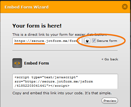 I have a HTML code for secure payment - can I use it in JOTFORM?