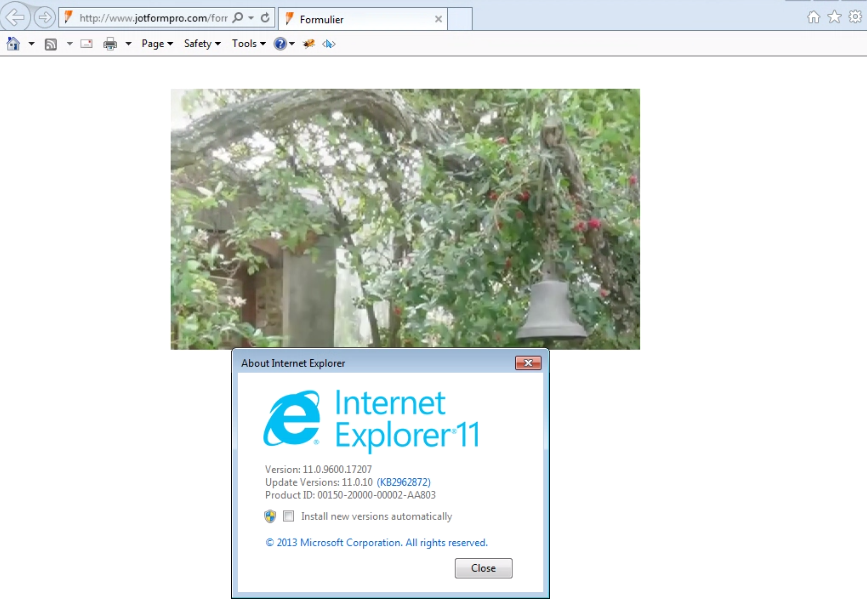Video playback not working in IE 10