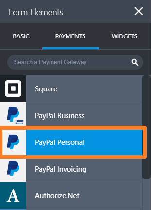 Payments PayPal Personal