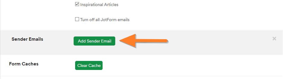 Add Sender Email