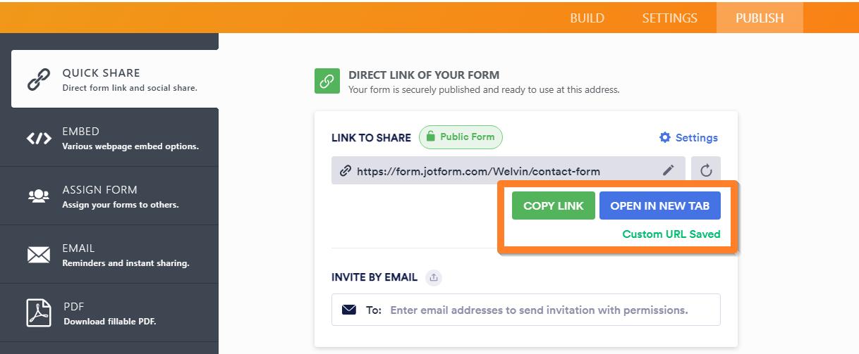 How To Create A Custom Url Of A Form