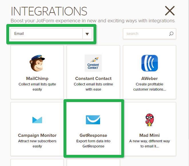 how to integrate form with getresponseGetresponse Integration #9